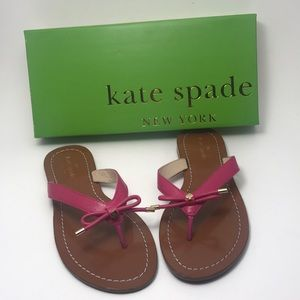 Kate Spade Sandals Cena Deep Pink Nappa 7.5 Medium
